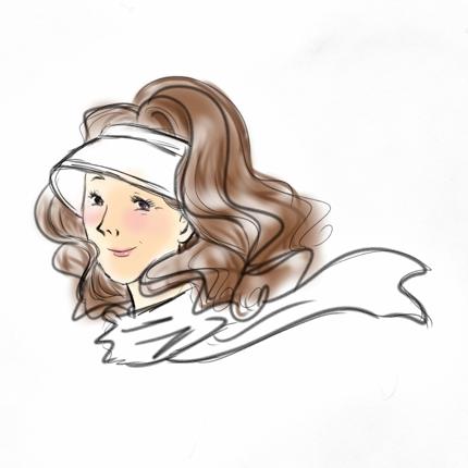 女性的な人物イラスト作成