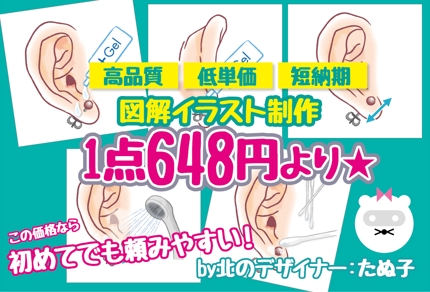 低単価!図解イラスト1点648円〜!!