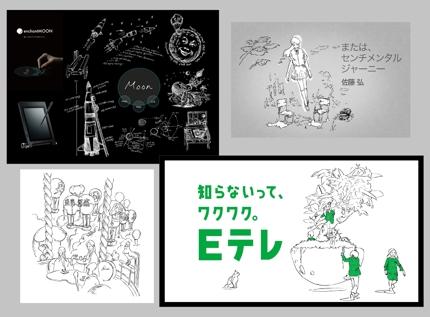 書籍挿絵、ショップビジュアルなどにキャッチーな線画を!