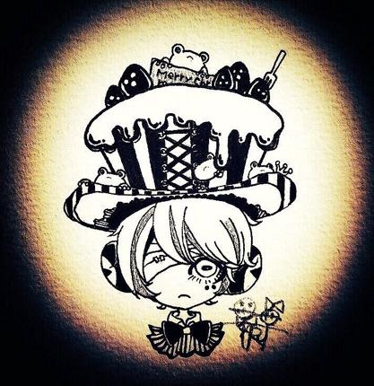 ゴシック・ダーク・モノトーン【アイコン/挿絵/プレゼントに】