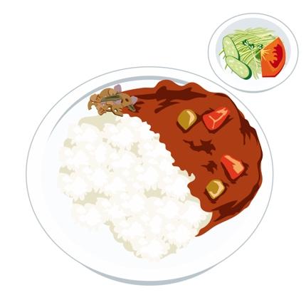 美味しそうに見える食べ物のイラスト