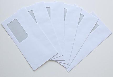 封筒のデザインをします