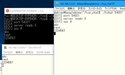Linux/組み込み各種OS用TCP/IP通信プログラム