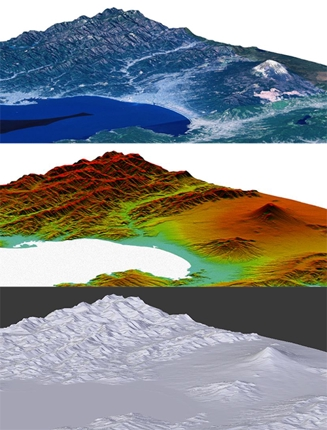 3D立体地図の画像作成