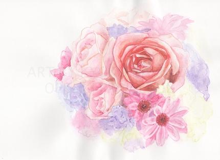 写真から水彩画イラスト!花や動物、静物をお描きします