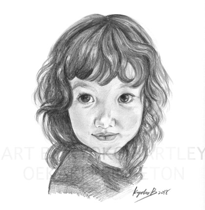 写真から精密描写イラスト!大事なお子様や家族の肖像画をお描きします(小)