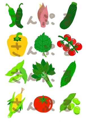 ごはん・野菜イラスト制作(デジタル)