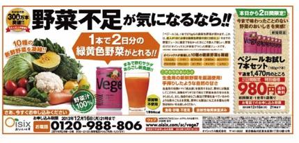 新聞5段広告制作(レスポンス広告/告通販広告)