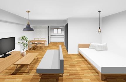 賃貸住宅改修時のインテリアデザイン(壁紙、床材選定)