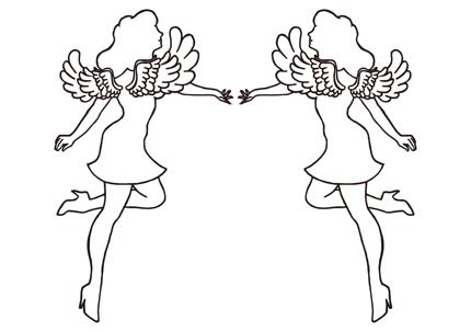 天使〜魅惑的な女性のシルエット(イラストレーターパス)