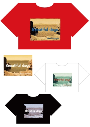 Tシャツのプリント柄 特色分解データ(写真柄なのに色替えが出来ます)