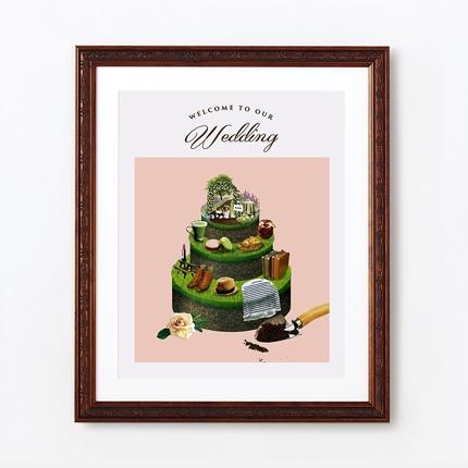 グラスケーキのオリジナルウェルカムボードデザイン