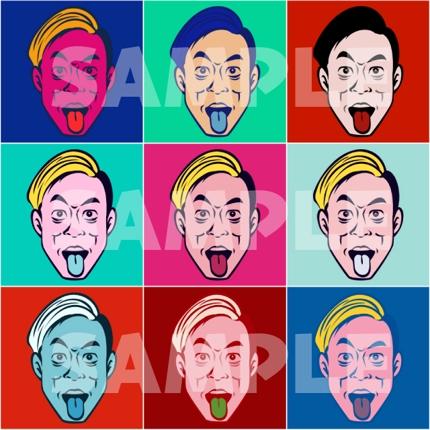 【ウォーホル風ポップアート似顔絵】サンプルのような似顔絵イラストを制作します