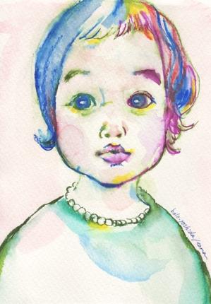 カラフルな色でその人イメージの水彩風似顔絵描きます