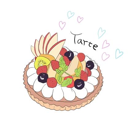 食べ物をオシャレに描きます