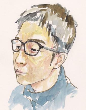 似顔絵を描きます。