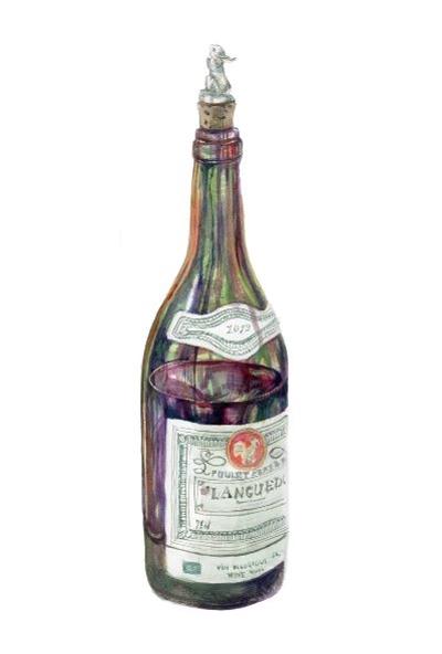 水彩画「瓶」