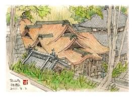 宝山寺 拝殿