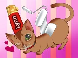 アビシニアンレッドの猫さんと好きなもの