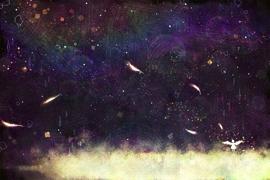 夜空 天使 宇宙 ゲームイラスト 背景