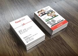 Foodnavi様(飲食フランチャイズ本部)の名刺デザイン