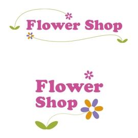 フラワーショップのロゴデザイン