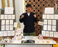 沖縄県立図書館様/新開館イベントで似顔絵描かせて頂きました。