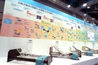 パラマントベッド株式会社 国際福祉機器展 H.C.R.2019 展示ブースの壁面年表