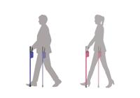 IDカードが収納できる杖のデザイン