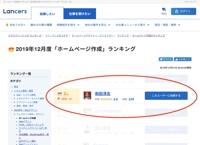 【ホームページ制作部門・HP制作・WEBサイト制作】ランキング 2位獲得(準優勝)