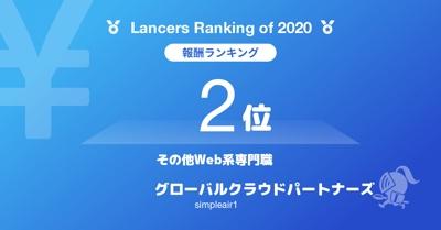☆2020年WEB系専門職部門表彰☆