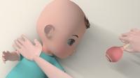 カイロプラクティック院による乳児むきぐせ改善ストレッチ手順説明