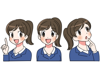 アニメ風スーツの女性