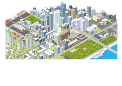 都市イメージのアイソメ
