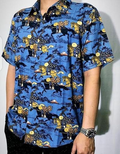 浮世絵を使用したシャツのデザイン