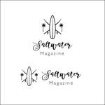 queuecatさんのウェブマガジン「Saltwater Magazine」のロゴ制作への提案