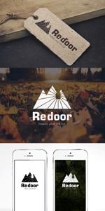 y203t043さんのキャンプ/アウトドアブランド「Re door 」のロゴへの提案