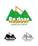rivers1951さんのキャンプ/アウトドアブランド「Re door 」のロゴへの提案
