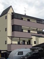 sarendaさんの外壁デザイン募集 鉄骨4階建 自宅併用賃貸住宅のカラーコーディネート への提案