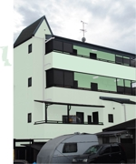 teddyx001さんの外壁デザイン募集 鉄骨4階建 自宅併用賃貸住宅のカラーコーディネート への提案