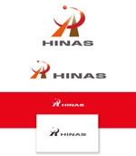 serve2000さんの新規設立会社:株式会社「HINAS」のロゴへの提案