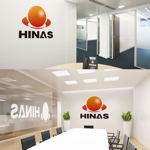nekosuさんの新規設立会社:株式会社「HINAS」のロゴへの提案