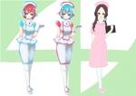 AIっぽい聡明なそうな女性のナースのキャラクターデザインへの提案