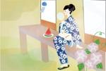 yachiyo05さんの【複数採用】「ひまわり/花火と浴衣/夏の縁側風景」のいずれかをテーマにしたポストカードのデザイン依頼への提案