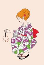 pinoko003さんの【複数採用】「ひまわり/花火と浴衣/夏の縁側風景」のいずれかをテーマにしたポストカードのデザイン依頼への提案