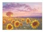 Moskoさんの【複数採用】「ひまわり/花火と浴衣/夏の縁側風景」のいずれかをテーマにしたポストカードのデザイン依頼への提案
