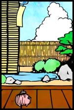 Amberunさんの【複数採用】「ひまわり/花火と浴衣/夏の縁側風景」のいずれかをテーマにしたポストカードのデザイン依頼への提案