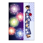 tomo_acuさんの【複数採用】「ひまわり/花火と浴衣/夏の縁側風景」のいずれかをテーマにしたポストカードのデザイン依頼への提案