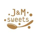スイーツショップ J&M sweets のロゴへの提案