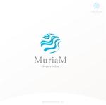 BlueGreen_design_incさんの総合ビューティーサロン「MuriaM (ミュリアム)」のロゴへの提案